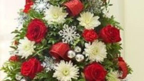 sapin de roses