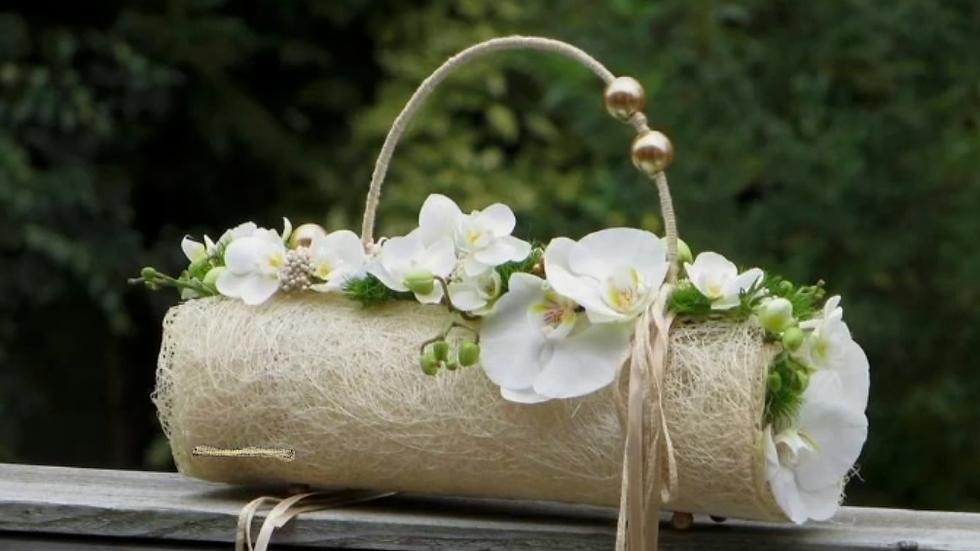 composition orchidée parchemin