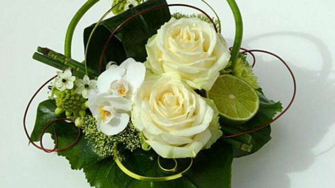 bouquet roses citron
