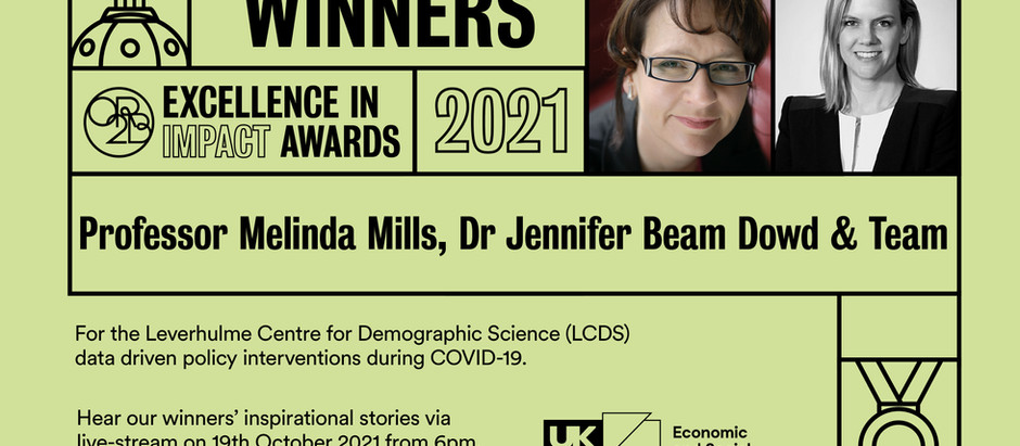 LCDS wins Impact Prize for data driven policy interventions during COVID-19