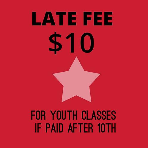 $10 Late Fee