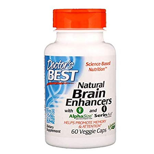 Natural Brain Enhancer 60 VEGGIE CAPS