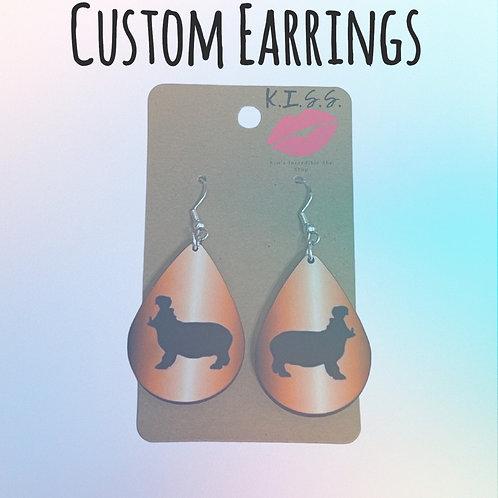 Custom Teardrop Earrings
