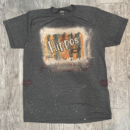 Hutto Hippos Bleached T-Shirt