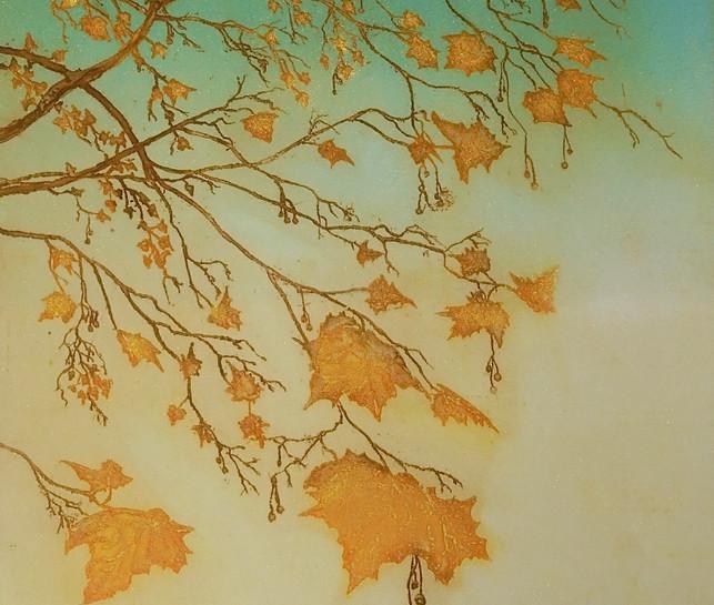 Autumn Plane gold
