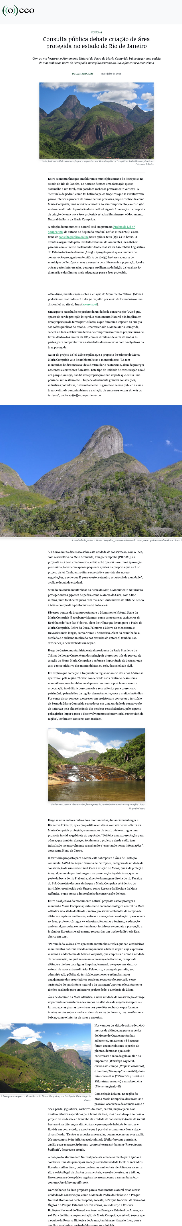 O Eco (13_7_2021)-Consulta pública debate criação de área protegida no estado do Rio de J