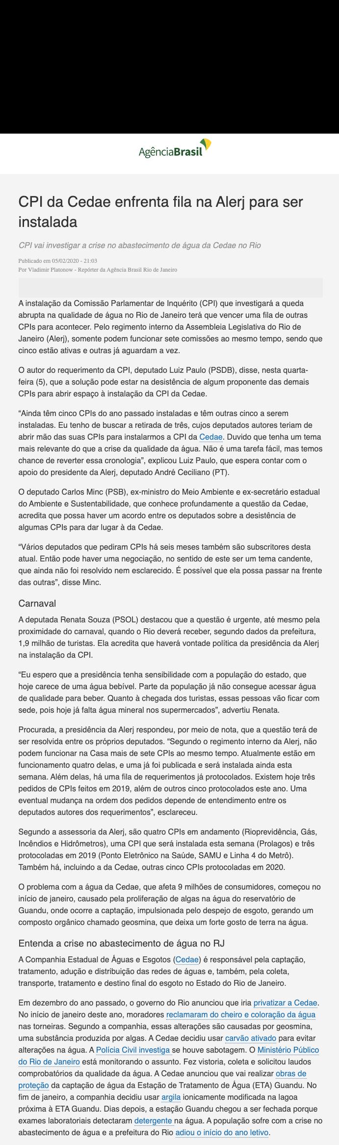 AGENCIA BRASIL (5:2:2020) - cpi cedae.pn