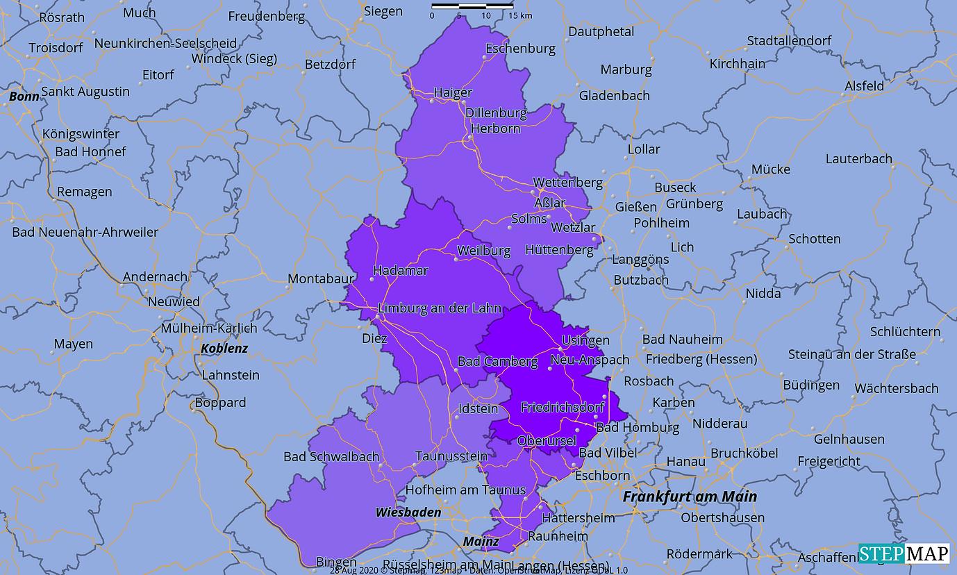 , Glashütten, Usingen, Neu Anspach, Eschborn, Kronberg