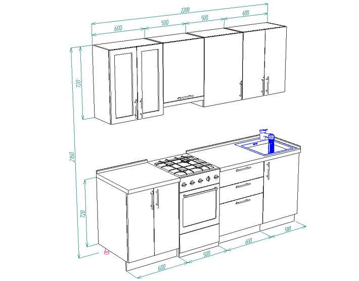 кухонный гарнитур 001
