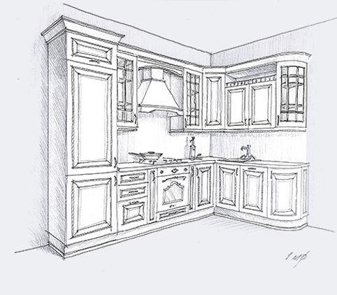 кухня из массива дерева Афина