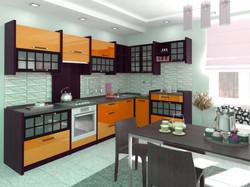 кухня из массива и краски