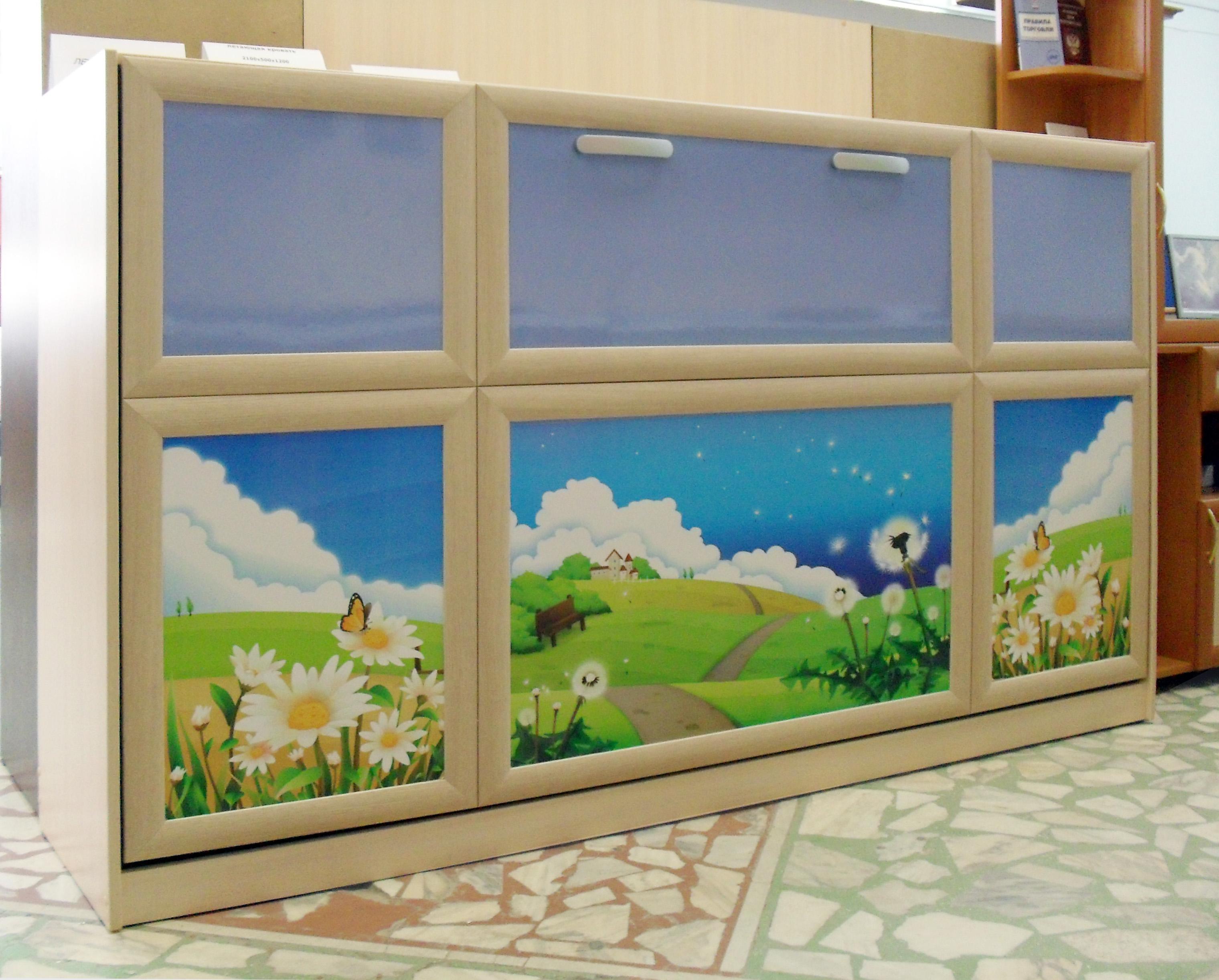 шкаф-кровать с рамочными фасадами