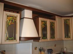 фасады под стекло на кухне