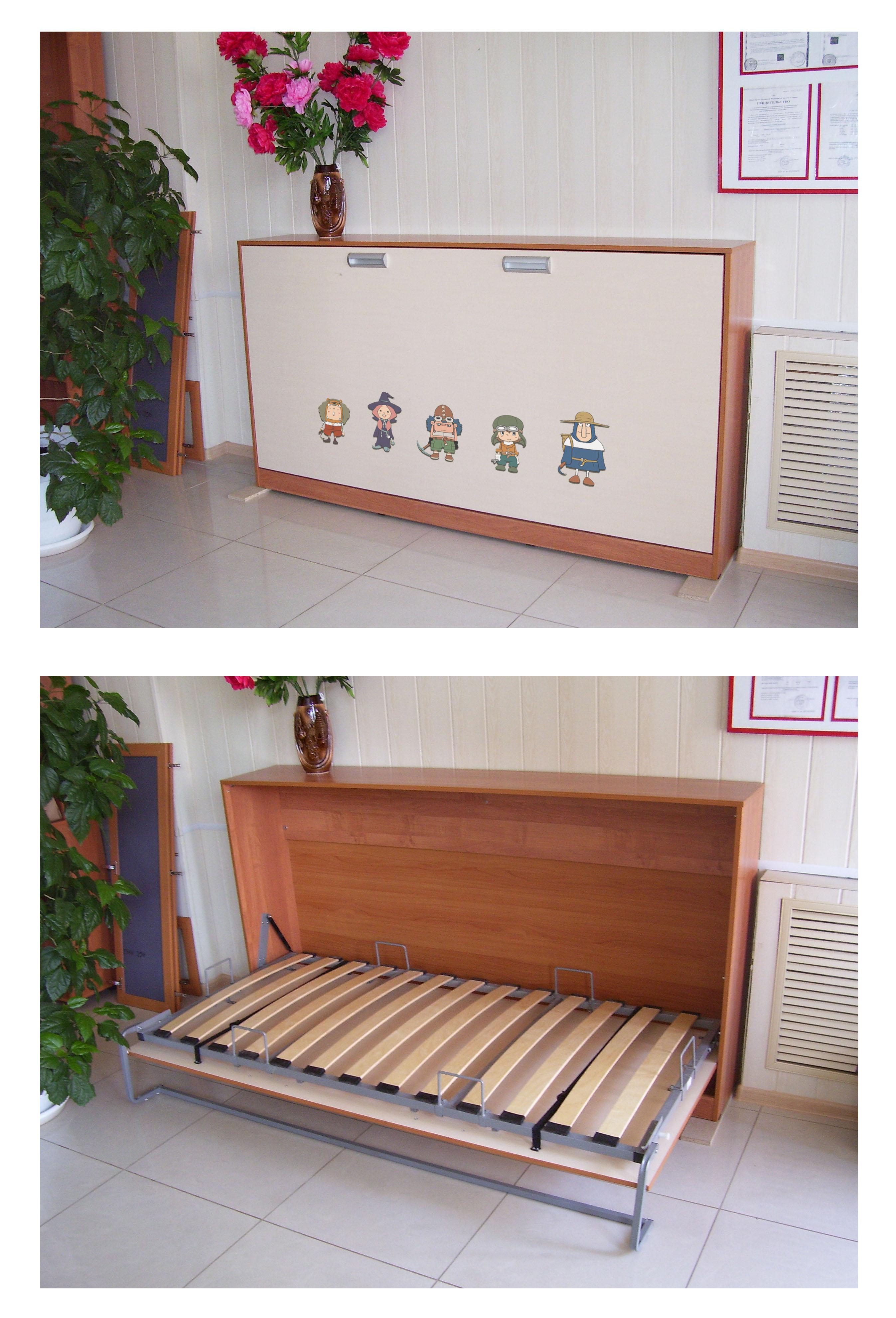 вид фасада шкафа-кровати