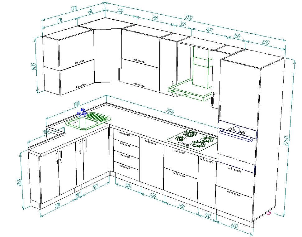 дизайн кухни, фото кухни Чебоксары