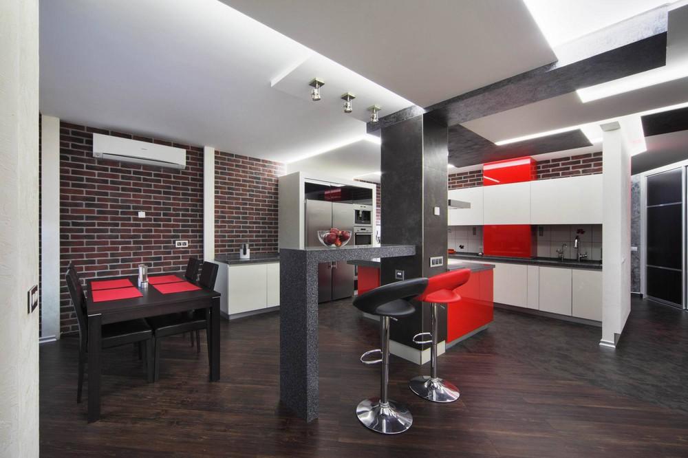 современная кухня красного цвета.jpg