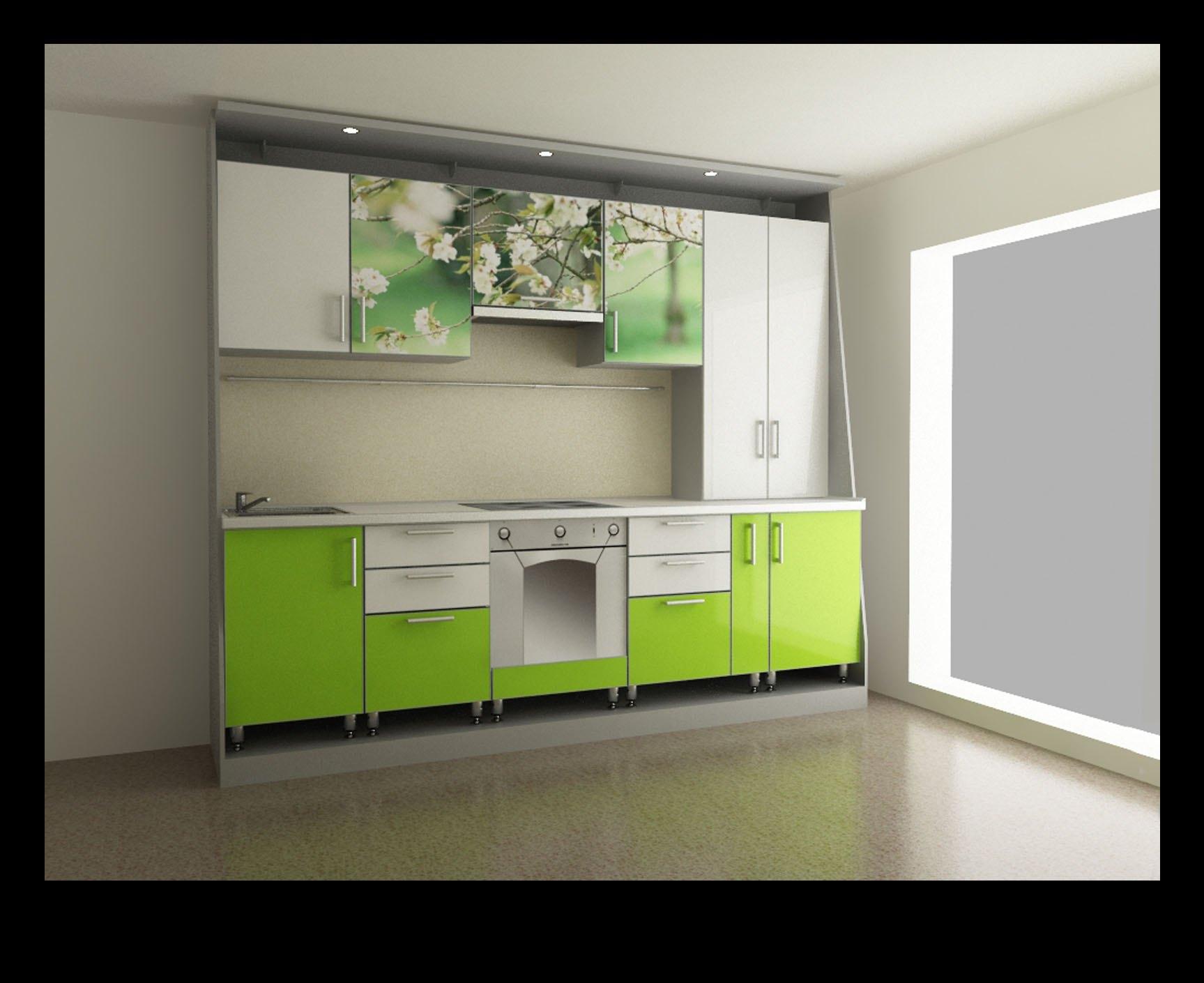 фото пластиковой кухни зеленое яблоко.jpg