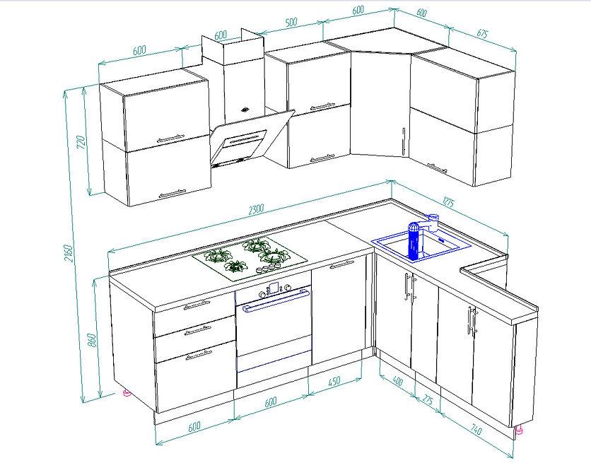 дизайн кухни, фото кухонь Новочебоксарск
