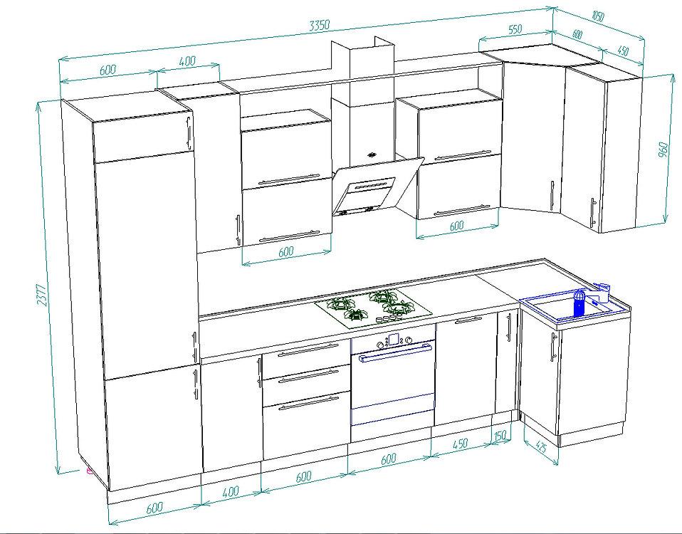 кухонный гарнитур, кухня пластик