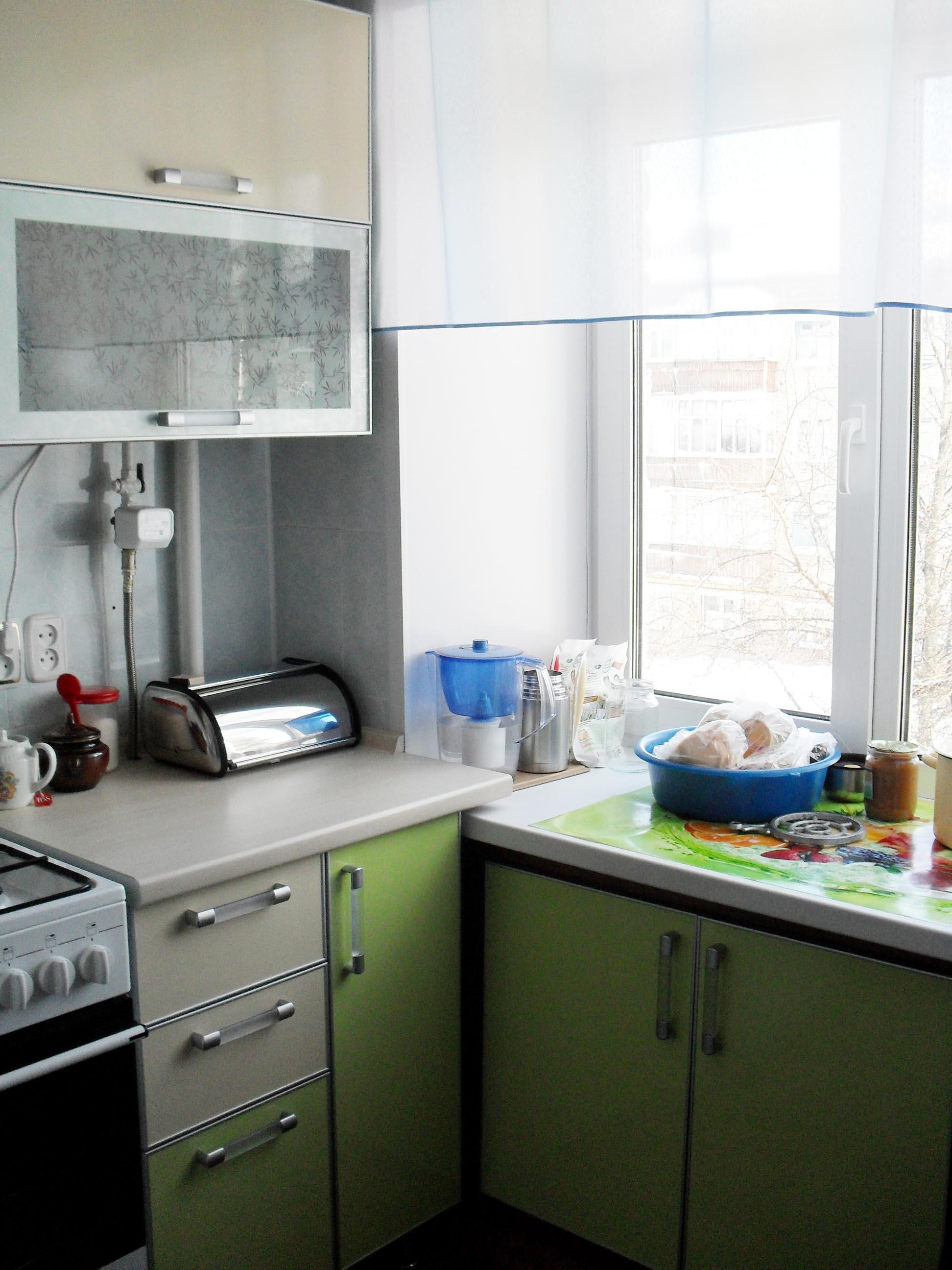 подоконник и кухня