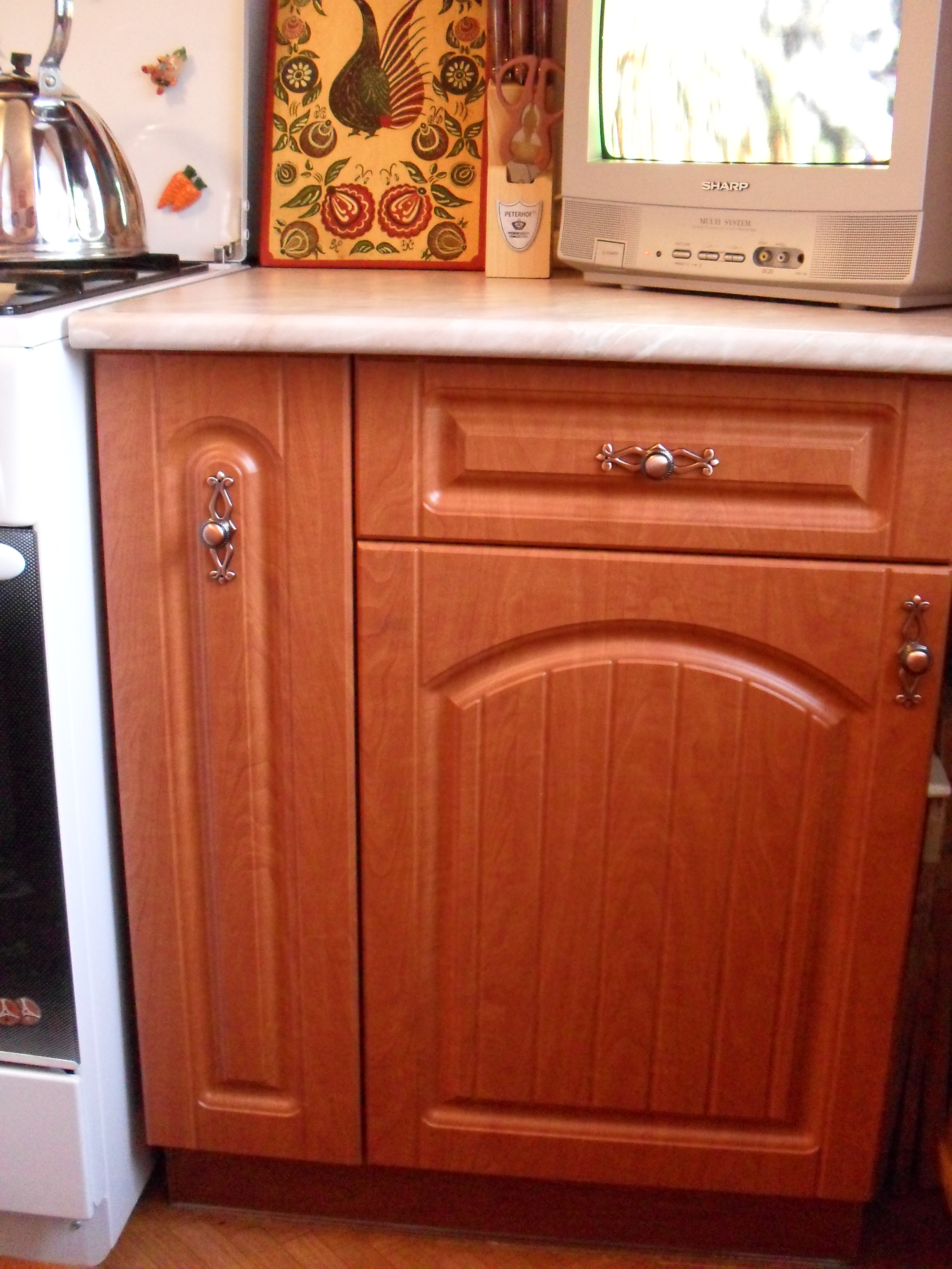 кухня в цвет ольхи