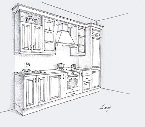 кухня из массива Лота