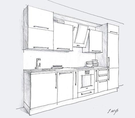 современная кухня квадро