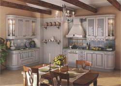 Кухонный гарнитур Искья синяя 01