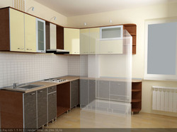 дизайн пластиковой кухни