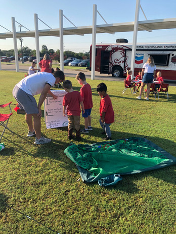 Reading directions for tent making with