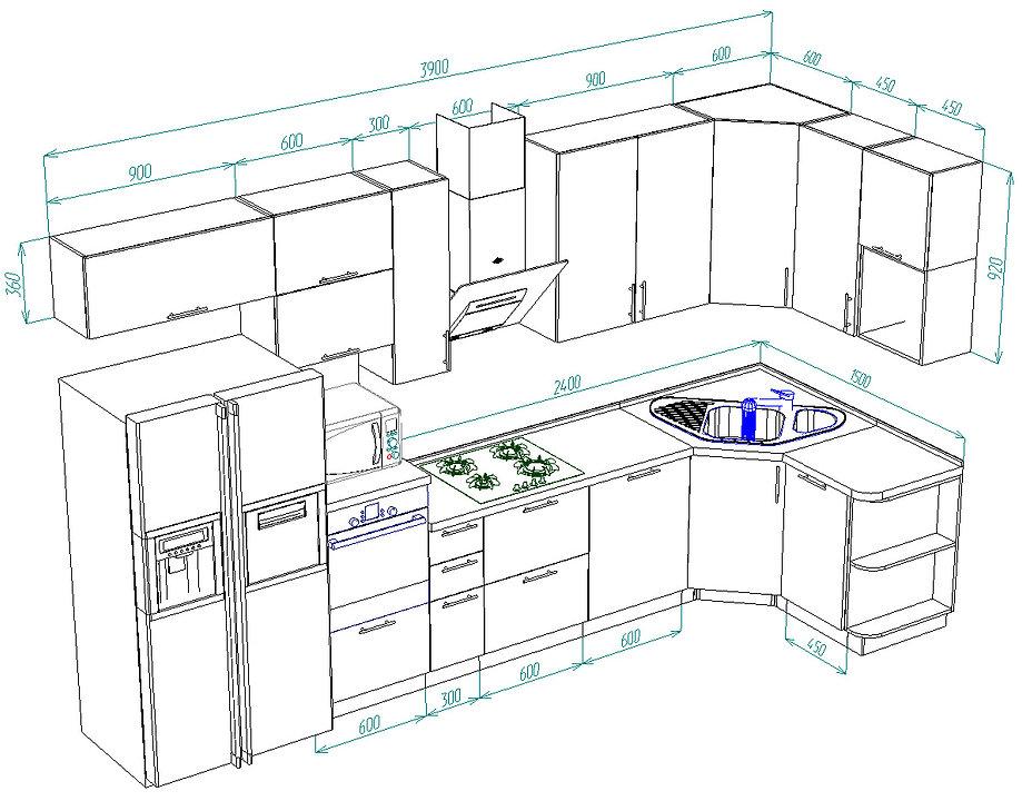 дизайн кухни, фото кухонь Чебоксары