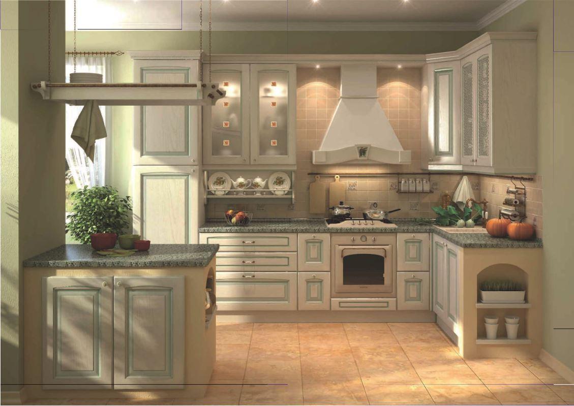 Кухонный гарнитур Искья зеленая 01