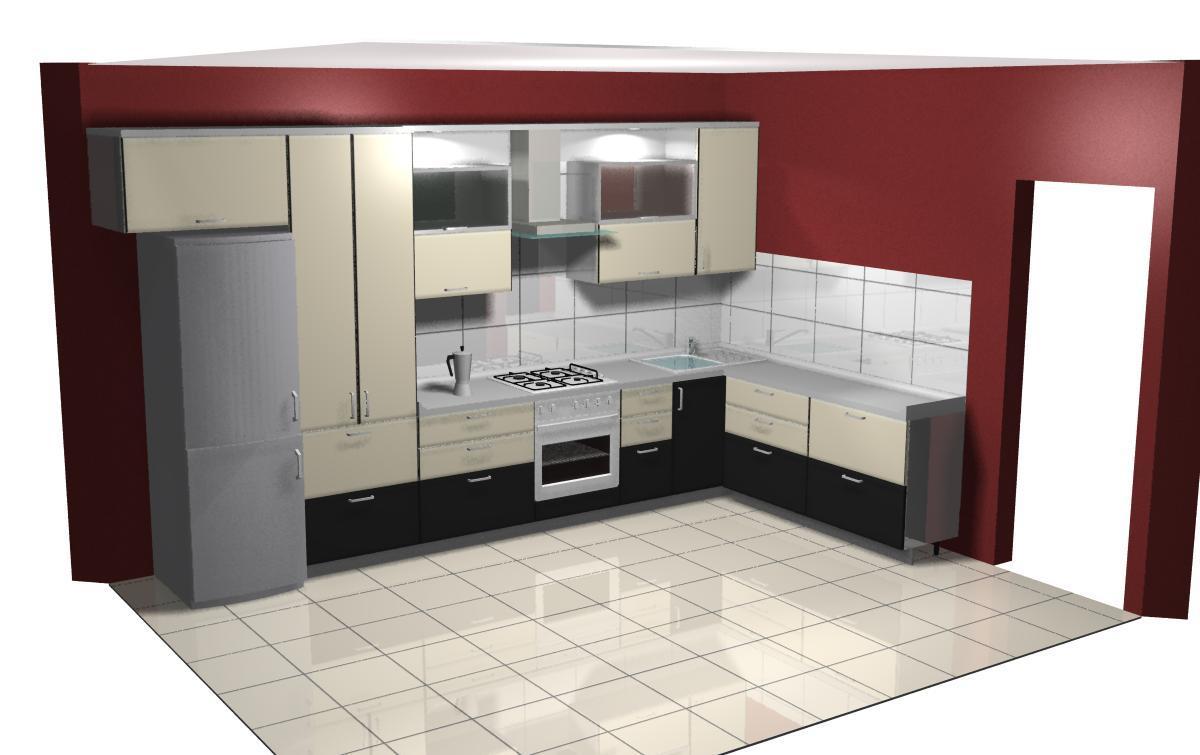 дизайн кухни по б-ру Миттова 3 к 2
