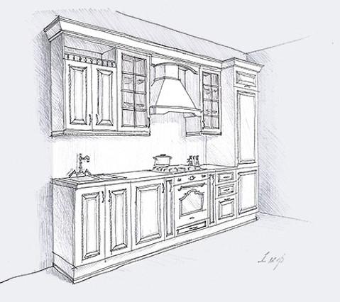 кухня из массива дерева Миледи