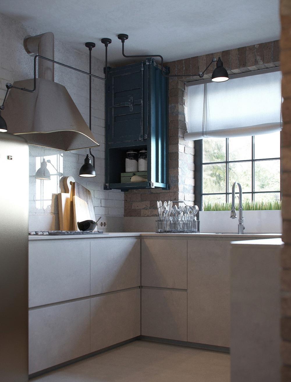 кухонный гарнитур лофт