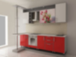 пластиковый кухонный гарнитур