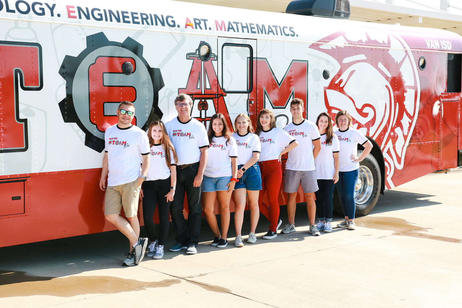STEAM Bus staff for STEAM Bus rollout 7.