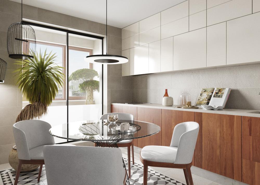 кухня модерн из шпона