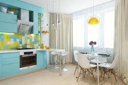 кухня бирюзового цвета.jpg