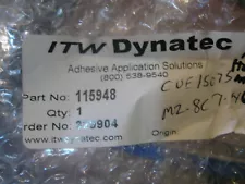 NEW ITW Dynatec Adhesive Hot Glue Melt Kit pn#- 115948