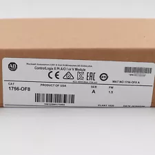 Allen-Bradley ControlLogix 8 Pt A/O I or V Module 1756-OF8 New Factory Sealed