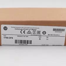Allen-Bradley 1756-OF8 ControlLogix 8 Pt A/O I or V Module New Factory Sealed