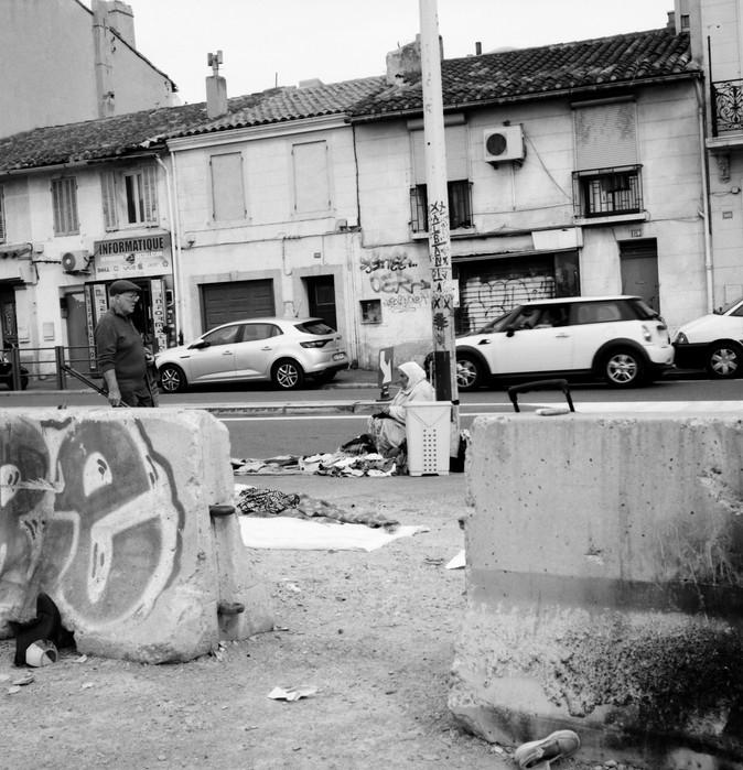 Marché aux puces. Marseille