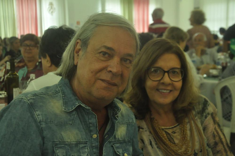 Cel PM Res Sergio Del Bel Secretário de Segurança Municipal de Santos e sua amável Rosa Maria