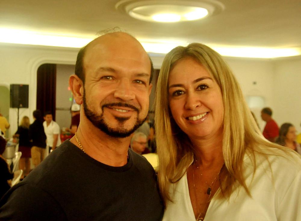 Empresário João Carlos Faneco com sua linda esposa Cristiane Lourenço Pereira