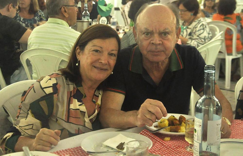 Comendador José Duarte e a primeira dama Maria de Fátima