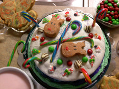 Vanilla Mint Candy Cake.