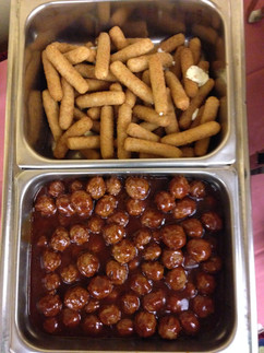 Cheese Sticks and Meatballs.