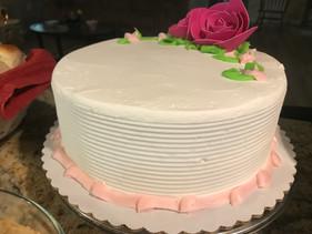Vanilla Cake with Vanilla Icing.