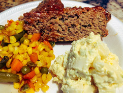 Meat Loaf Plate.